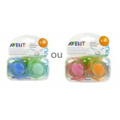 Avent 2 Sucettes Orthodontiques Silicone Free Flow 6-18 Mois