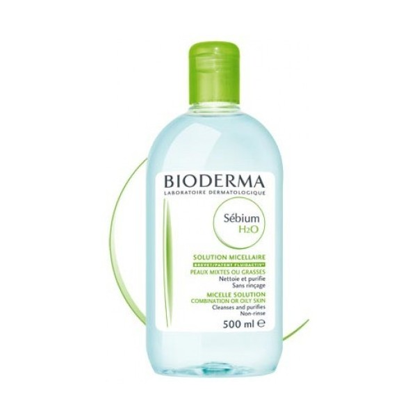 bioderma s bium h2o solution micellaire nettoyante sans rin age peau mixte ou grasse 500ml. Black Bedroom Furniture Sets. Home Design Ideas