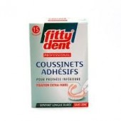 FittyDent 15 Coussinets Adhésifs Professionel