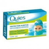 Quies Protection Auditive Silicone Naturel Adulte 3 Paires