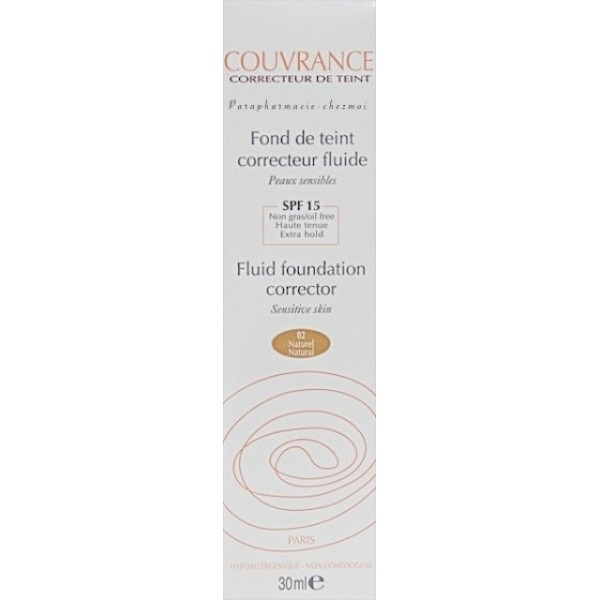 avene couvrance spf15 fond de teint fluide naturel 30ml. Black Bedroom Furniture Sets. Home Design Ideas
