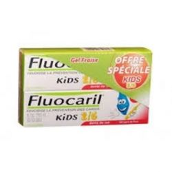 Fluocaril Dentifrice Kids 2/6 Fraise Duo