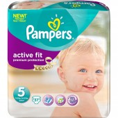 Pampers Active Fit Couches Taille 5 Junior - 11-25 kg