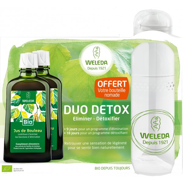 weleda coffret duo detox 200ml bouteille offerte. Black Bedroom Furniture Sets. Home Design Ideas