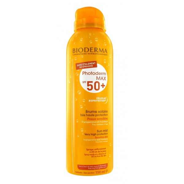 bioderma photoderm max spf 50 brume solaire 150 ml. Black Bedroom Furniture Sets. Home Design Ideas