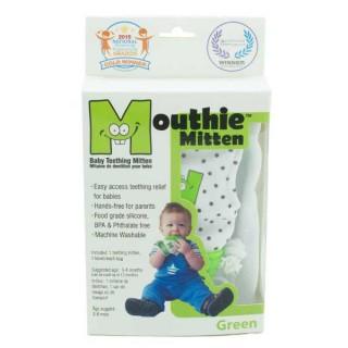 Mouthie Mitten mitaine de dentition vert 3 - 8 mois