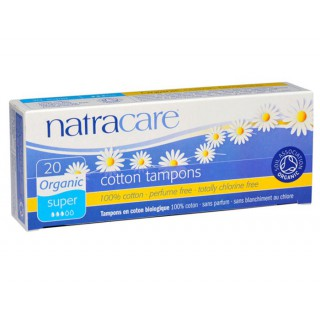 Natracare Tampons Super Sans Applicateur 20 unités