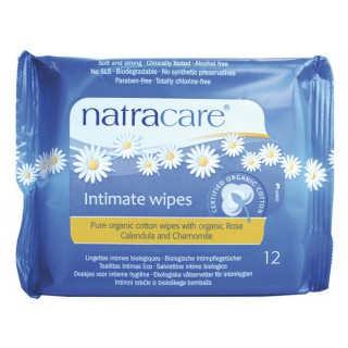 Natracare Lingettes Intimes Femme 12 unités