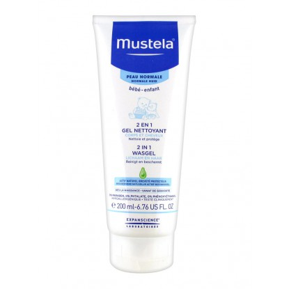 Mustela Bébé Gel nettoyant 2 en 1 cheveux et corps 200ML
