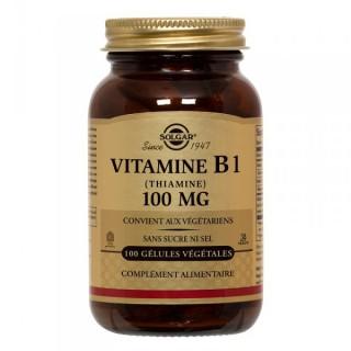 Vitamine B1 100mg Solgar 100 gélules