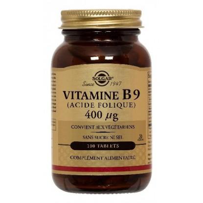 Vitamine B9 400µg Solgar boite de 100