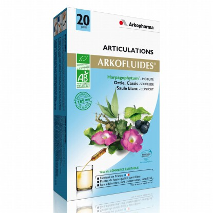 ARKOFLUIDE Joints Organic box of 20 ampoules