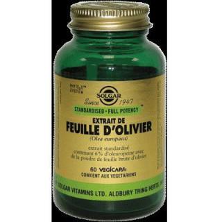 Solgar extrait de feuille d'olivier 60 gélules