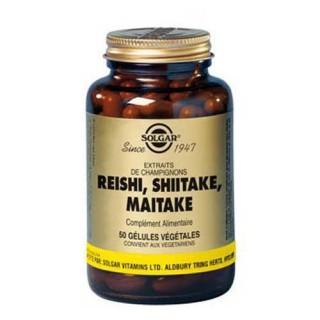 Solgar reishi, Shiitake, Maitake 50 gélules