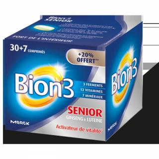 Bion 3 Défense Seniors 30 comprimés + 7 OFFERTS