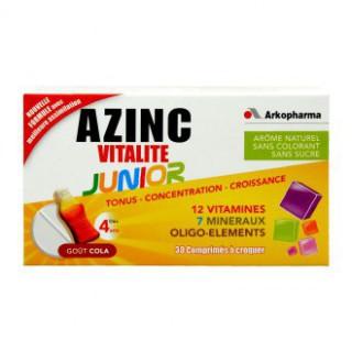 Azinc Vitalité Junior Cola 30 comprimés à croquer