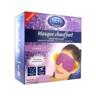 Optone ActiMask Masque Chauffant Lavande x 8