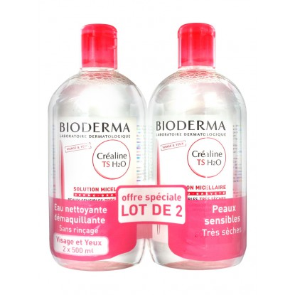 Bioderma Créaline H2O TS Solution micellaire 500ml duo