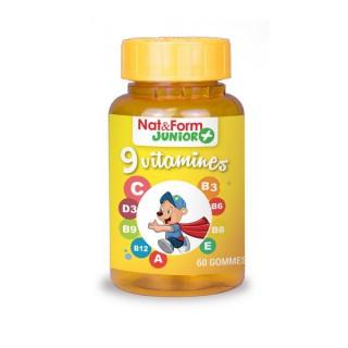 Nat & Form Junior+ 9 vitamines 60 Gommes