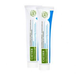Cattier Toothpaste dentargile Propolis 2 x75ml