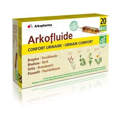 ARKOFLUIDE Confort urinaire Bio bte de 20 ampoules