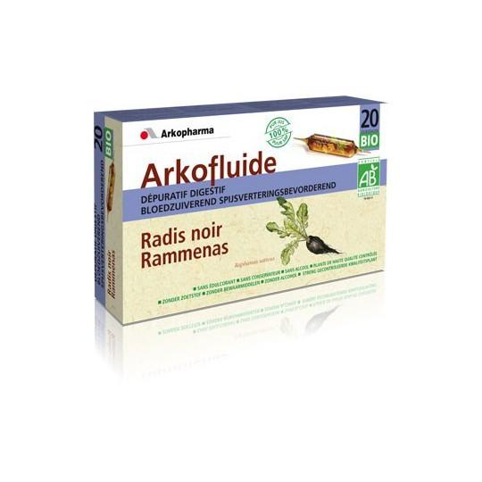 ARKOFLUIDE Dépuratif digestif Bio bte de 20 ampoules