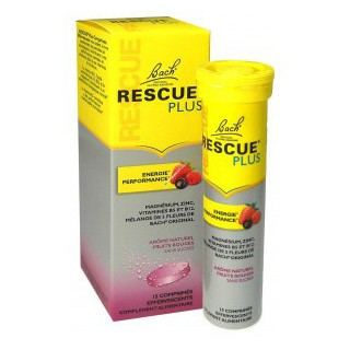 Bach Rescue Plus fruits rouges 15 comprimés effervescents