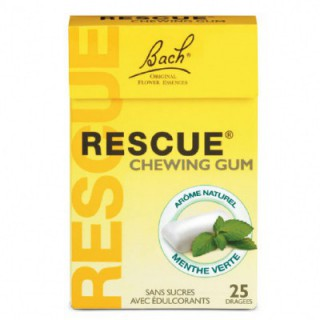 Bach Rescue Chewing-Gum Menthe Verte 25 dragees