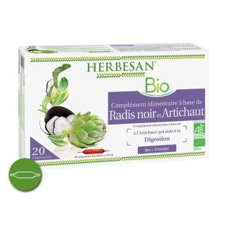 Herbesan Radis noir artichaut Bio 20 ampoules