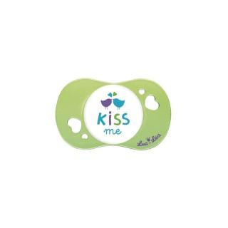 Luc et Léa Sucette Silicone 6 Mois et + Kiss me