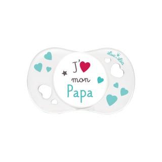 """Luc et Léa Pacifier 0-6 months """"J'aime mon papa"""" (I love my dad)"""