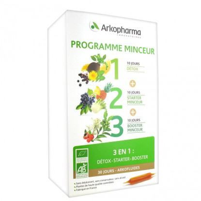 ARKOFLUIDE Programme Minceur Bio 30 Ampoules