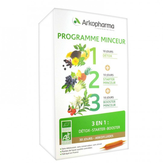 ARKOFLUIDE Organic Slimming Program 30ampoules