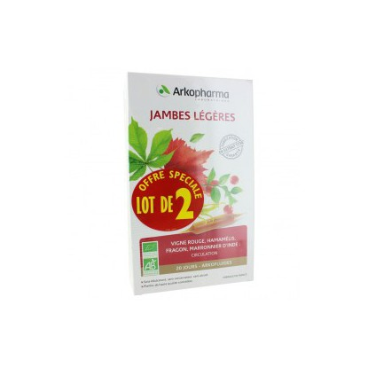 ARKOFLUIDE Light legs package 2x30 ampoules