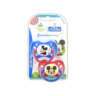Dodie Disney 2 Sucettes Silicone 0-6 Mois Mickey