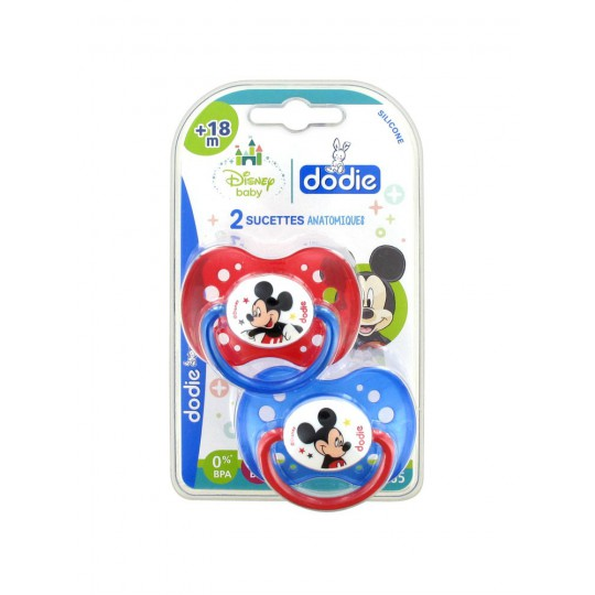 Dodie Disney 2 Sucettes Silicone +18 Mois Mickey