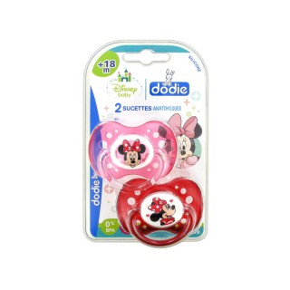 Dodie Disney 2 Sucettes Silicone +18 Mois Minnie