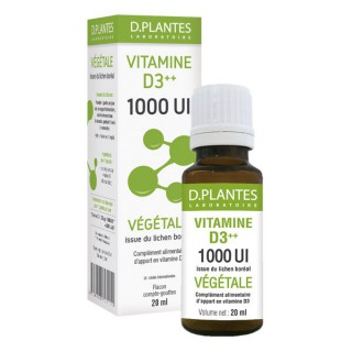 D.Plantes Vitamine D3++ 1000IU 20 ml
