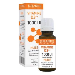 D.Plantes Vitamine D3 Plus Huile 1000IU 20mL