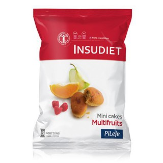 Insudiet Mini cake Multifruits x 12