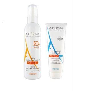 Aderma Protect Spray SPF 50+ 200 ml + Apres soleil OFFERT