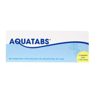 Aquatabs 60 comprimés effervescents