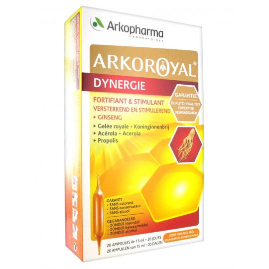 Arko Royal Dynergie stimulant box of 20 ampoules