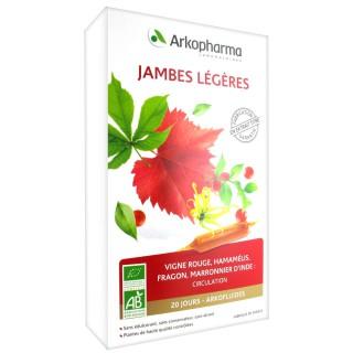 Arkofluide Jambe Légère Bio 20 Ampoules