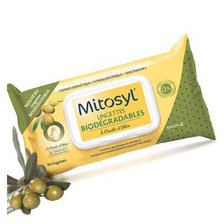 Mitosyl Lingettes Biodegradables 70 lingettes
