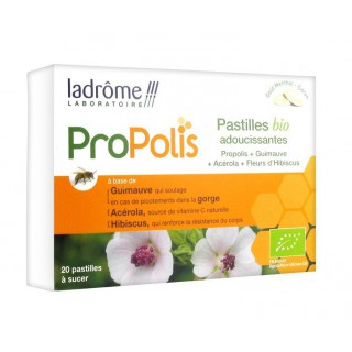 Ladrôme Propolis 20 Pastilles Adoucissantes Bio