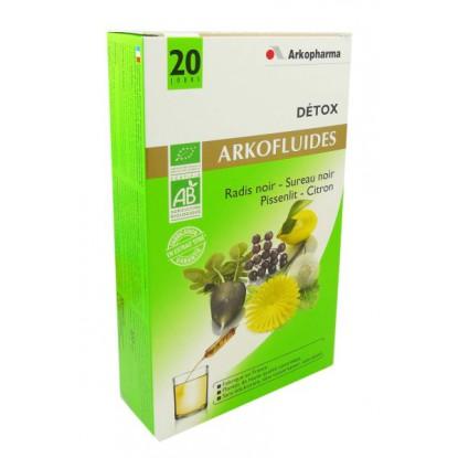 ARKOFLUIDE détox bio bte 20 ampoules