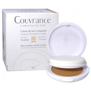 Avène Couvrance crème de teint fini mat 1.0 porcelaine SPF30 - 10g
