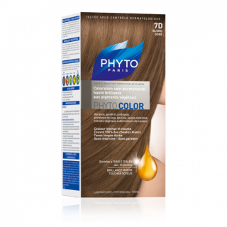 Phytocolor coloration soin permanente N°7D blond doré