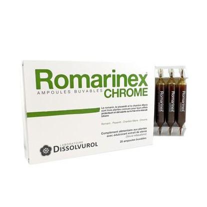 Romarinex chrome 20 ampoules de 10ml